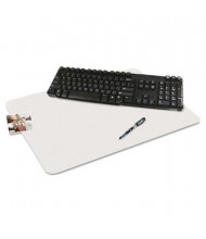 """Artistic 24"""" x 30"""" KrystalView Desk Pad with Microban, Glossy, Clear"""