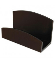Artistic Eco-Friendly 50-Card Bamboo Curves Business Card Holder, Espresso