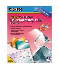 "Apollo 8-1/2"" x 11"", 50-Sheets, Inkjet Printer Transparency Film"