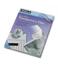 "Apollo 8-1/2"" x 11"", 50-Sheets, Laser Printer Transparency Film"