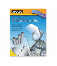 "Apollo 8-1/2"" x 11"", 100-Sheets, Removable Stripe Laser Printer Transparency Film"