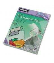 """Apollo 8-1/2"""" x 11"""", 100-Sheets, Write-On Transparency Film"""