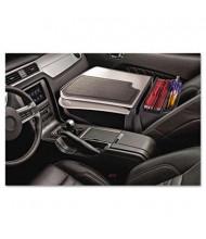 AutoExec GripMaster 01 Auto Desk with Retractable Writing Surface & Supply Organizer, Grey