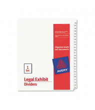 Avery 126-150 Allstate 25-Tab Legal Dividers, White, 1 Set