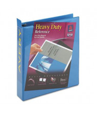 """Avery 1-1/2"""" Capacity 8-1/2"""" x 11"""" Slant Ring One Touch View Binder, Light Blue"""