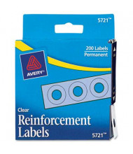 """Avery 1/4"""" Diameter Dispenser Pack Hole Reinforcements, Clear, 200/Pack"""