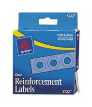 """Avery 1/4"""" Diameter Dispenser Pack Hole Reinforcements, Clear, 1000/Pack"""