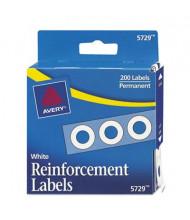 """Avery 1/4"""" Diameter Dispenser Pack Hole Reinforcements, White, 200/Pack"""