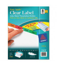 Avery Multicolor 8-Tab Letter Index Maker Dividers, White, 5 Sets
