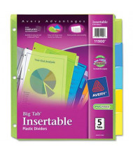 Avery Big Tab Letter 5-Tab Insertable Plastic Dividers, Assorted, 1 Set