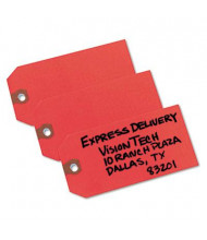 "Avery 4-3/4"" x 2-3/8"" Shipping Tags, Red, 1000/Box"