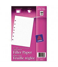 """Avery 5-1/2"""" x 8-1/2"""", 100-Sheets, 7-Hole Punch Mini Binder Filler Paper"""