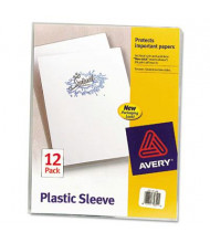 """Avery 8-1/2"""" x 11"""" Letter Clear Polypropylene Plastic Sleeves, 12-Pack"""