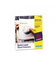"Avery 8-1/2"" x 11"" Quick Top & Side Loading Non-Glare Sheet Protectors, 50/Box"