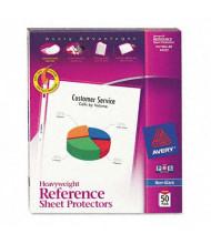 "Avery 8-1/2"" x 11"" Top-Load Non-Glare Poly Sheet Protectors, 50/Box"
