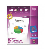"Avery 8-1/2"" x 11"" Top-Load Non-Glare Poly Sheet Protectors, 200/Box"