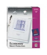 "Avery 8-1/2"" x 11"" Top-Load 3-Hole Poly Sheet Protectors, 100/Box"
