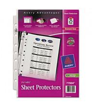"Avery 5-1/2"" x 8-1/2"" Top-Load Heavyweight Mini Sheet Protectors, 25/Pack"
