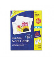 "Avery 4-1/4"" x 5-1/2"", 60-Cards, Matte White Inkjet Note Cards with Envelopes"