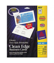 """Avery 3-1/2"""" x 2"""", 200-Cards, Glossy Clean Edge Card Stock"""