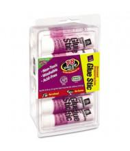 Avery .26 oz Permanent Glue Sticks, Purple Application, 18/Pack