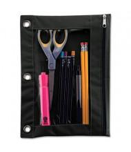 "Advantus 7-3/8"" x 10"" Binder Pencil Pouch, Black"