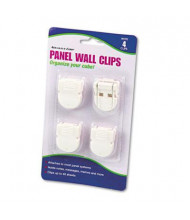 Advantus Standard Size Panel Wall Clips for Fabric Panels, White, 4/Pack