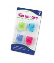 Advantus Standard Size Fabric Panel Wall Clips, Assorted Cool Colors, 4/Pack