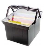 """Advantus 17"""" D Letter & Legal Companion Portable File Storage Box, Black"""