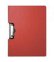 "Baumgartens 1/2"" Capacity 8-1/2"" x 11"" Side-Opening Portfolio Clipboard, Red"