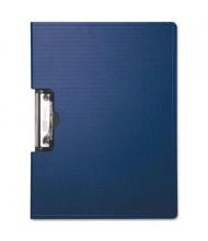 "Baumgartens 1/2"" Capacity 8-1/2"" x 11"" Side-Opening Portfolio Clipboard, Blue"