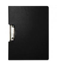 "Baumgartens 1/2"" Capacity 8-1/2"" x 11"" Side-Opening Portfolio Clipboard, Black"
