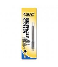 BIC Refill for Medium Retractable Ballpoint Pens, Blue Ink, 2-Pack