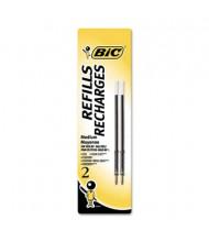 BIC Refill for Medium Retractable Ballpoint Pens, Black Ink, 2-Pack