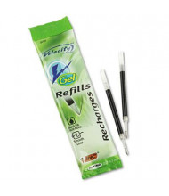 BIC Refill for Medium Gel Roller Ball Pens, Black Ink, 2-Pack