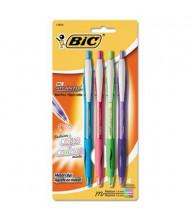 BIC Atlantis 1 mm Medium Retractable Ballpoint Pens, Assorted, 4-Pack