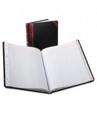 "Boorum & Pease 8-1/8"" x 10-3/8"" 150-Page Columnar Book, 12-Column, Black Cover"