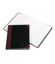 "Boorum & Pease 8-1/8"" x 10-3/8"" 150-Page Columnar Book, 6-Column, Black Cover"