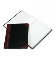 "Boorum & Pease 8-1/8"" x 10-3/8"" 150-Page Quadrille Rule Columnar Book, Black Cover"