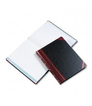"Boorum & Pease 8-1/8"" x 10-3/8"" 300-Page Quadrille Rule Columnar Book, Black Cover"