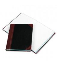 "Boorum & Pease 8-1/8"" x 10-3/8"" 300-Page Columnar Book, Black Cover"