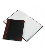 """Boorum & Pease 7-5/8"""" x 9-5/8"""" 150-Page Record Rule Account Book, Black/Red Cover"""