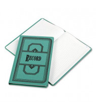 """Boorum & Pease 7-5/8"""" x 12-1/8"""" 300-Page Record Rule Account Book, Blue Cover"""