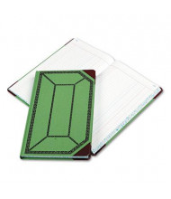 """Boorum & Pease 7-5/8"""" x 12-1/2"""" 300-Page Journal Rule Record Account Book, Green/Red Cover"""