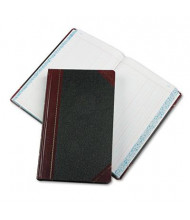 """Boorum & Pease 8-5/8"""" x 14-1/8"""" 500-Page Journal Rule Record Account Book, Black/Red Cover"""