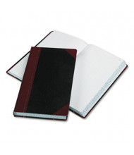 """Boorum & Pease 8-5/8"""" x 14-1/8"""" 500-Page Record Rule Account Book, Black/Red Cover"""