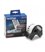 """Brother DK2211 Continuous Film 1.1"""" x 50 ft. Label Tape Roll, White"""