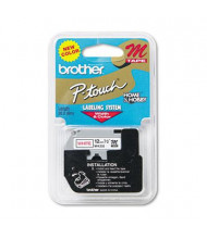 """Brother P-Touch MK232 M Series 1/2"""" x 26.2 ft. Tape Cartridge, Red on White"""