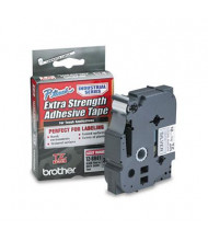 """Brother P-Touch TZES941 TZe Series 3/4"""" x 26.2 ft. Labeling Tape, Black on Matte Silver"""
