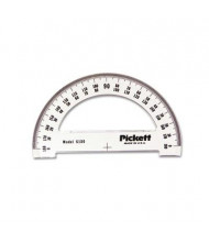 "Chartpak 6"" Ruler Edge Transparent Acrylic Protractor"